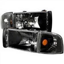 2001 dodge ram headlights 94 01 dodge ram black housing style reflector headlights