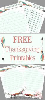free thanksgiving printables menu thankful abc s i am