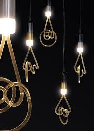 led light bulb twist lamp by seletti design alistair law golden