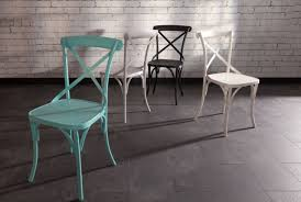 Blue Bistro Chairs Sapphire Bistro Chair Pastal Blue Industrial Chic Style