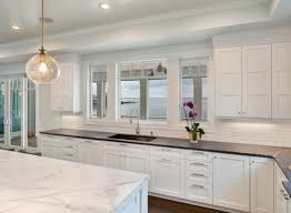 Kitchen White Cabinets White Transitional Kitchen Mantoloking New Jersey By Design Line