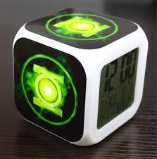 Desk Alarm Clock 2017 New Green Lantern Badge Creative Led Alarm Clock Digital Desk