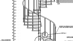 spiral staircase detail drawing spiral stairs cad block free
