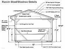 10 Stall Horse Barn Plans Shedrow Horse Barns From Lancaster Amish Builders