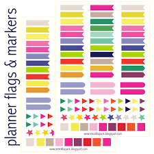 Flags In Free Printable Calendar Planner Flags And Markers Ausdruckbare
