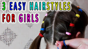 3 easy hairstyles for girls hairstyles for best