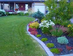 landscape bricks make for nice clean defined borders between a