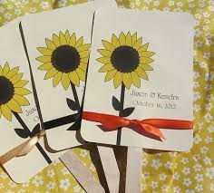 sunflower wedding programs 114 best sunflower wedding ideas images on bridal