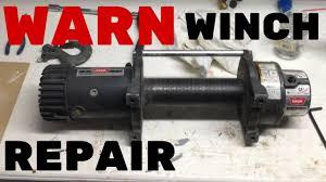 warn winch repair rebuilding warn 9 5xp winch youtube