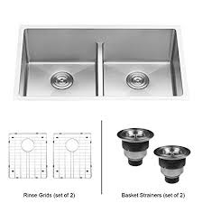 smart divide stainless steel sink ruvati 30 inch low divide undermount tight radius 50 50 double bowl