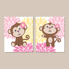 Nursery Monkey Wall Decals Monkey Wall Decals Prints Design Idea And Decorations Monkey