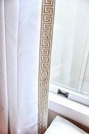 White Curtains With Pom Poms Decorating How To Trim Curtains Gopelling Net