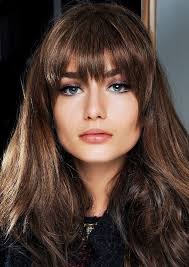 flip hairstyles for long face shape best 25 long fringe hairstyles ideas on pinterest fringe