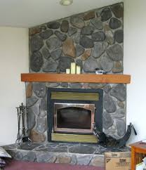 fireplace slate stacked stone large tile around veneer