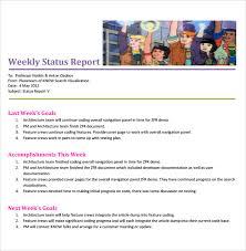 testing weekly status report template sle weekly status report 7 documents in pdf word