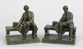 a pair of cast bronze abraham lincoln bookends 09 11 08 sold 299