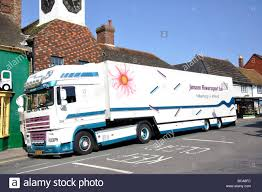 semi trailer truck dutch semi trailer truck high street steyning west sussex stock