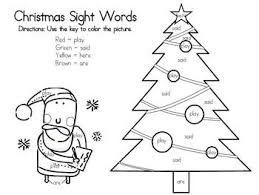120 christmas sight word plans images sight