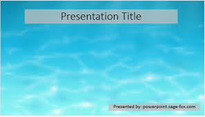 Water Powerpoint Templates by Simple Water Powerpoint Template 3943 Free Powerpoint Simple