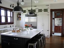 Free Standing Island Kitchen by Rustic Kitchen Island Ideas Hang Nickel Pendant Lamp Lighting Free