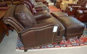reclining back chair with ottoman taylor king l252pm power tilt back chair ottoman in frontier bison