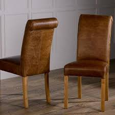 Leather Dining Chair Baby Roll Back Leather Dining Chairs Pair Regarding Ideas 13