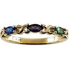 grandmother rings stackable multi gemstone mothers ring