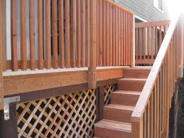 wood deck handrails house design and planning