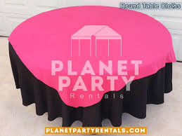pink round table covers table cloths