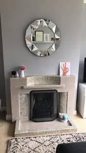 mid century fireplace walls dulux chic shadow mirror argos