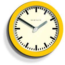 acctim 27371 lorene wall clock yellow kitchen home cotta yellow