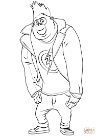 johnny gorilla from sing coloring page free printable coloring pages