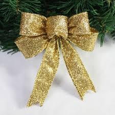 23cm length large gold glitter cloth bow tree
