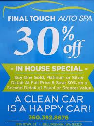 Interior Car Shampoo Service Near Me Final Touch Auto Spa Auto Detailing Bellingham Wa