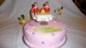 cake for twin sisters baked in heaven
