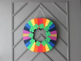 how to make a fast and easy st patrick u0027s day paper wreath how