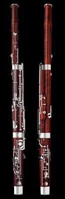 bassoon a large musical instrument that is shaped like a