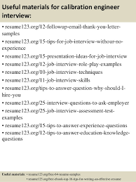 Engineer Resume Samples by Top 8 Calibration Engineer Resume Samples