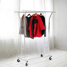 wardrobe racks astounding rolling hanging clothes rack commercial