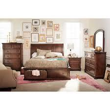 King Bedroom Set With Mattress Hanover 7 Piece King Storage Bedroom Set Cherry Value City