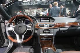 Mercedes Benz E Class 2014 Interior Detroit Auto Show Welcomes Mercedes Benz U0027s Revised E Class Family