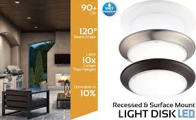 Wet Location Light Fixtures by Getinlight Dimmable Led Disk Light 4 Inch Surface Mount Or