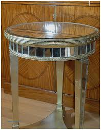 Mirrored Side Table Storage Benches And Nightstands Luxury Round Mirrored Nightstand