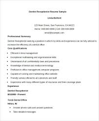 Sample Resume For Receptionist Position by Receptionist Resume Example 9 Free Word Pdf Documents Download