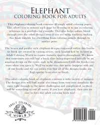 amazon com elephant coloring book for adults an coloring