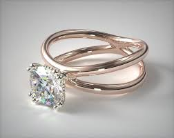 wedding rings cross images Criss cross diamond solitaire 14k rose gold james allen 17975r14 jpg