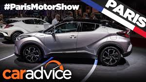 suv toyota 2017 2017 toyota c hr compact suv 2016 paris motor show youtube