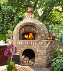 Brick Oven Backyard by This Is A Little Too Much Brick But Great Chimney Wall Stone Or