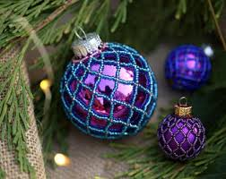 purple ornaments etsy