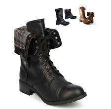 sweater lined foldover combat boots fold combat boots ebay